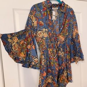 Funky groovy floral romper from LF NEW with tags